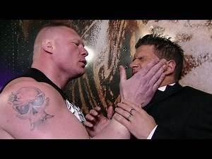 Brock Lesnar ruthlessly assaults Josh Mathews: Raw, April 23, 2012