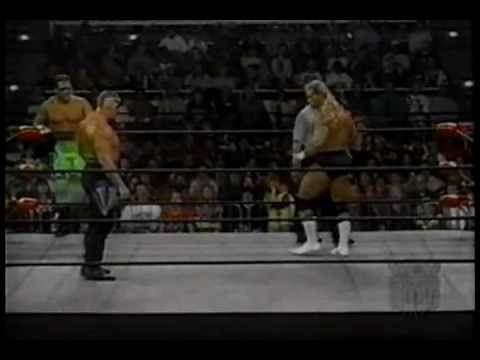 WCW Monday Nitro 2-5-96 Road Warriors vs Sting and Lex Luger 1 of 2