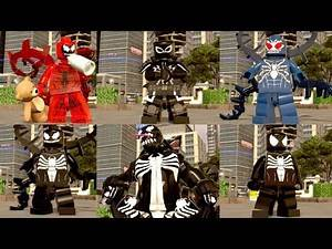 All Symbiote Characters In LEGO Marvel Super Heroes 2