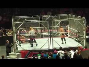 WWE Raw 9/17/12 After went off the air- Punk vs Cena - Steel Cage