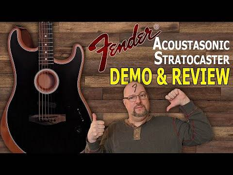 Fender Acoustasonic Strat Demo and Review