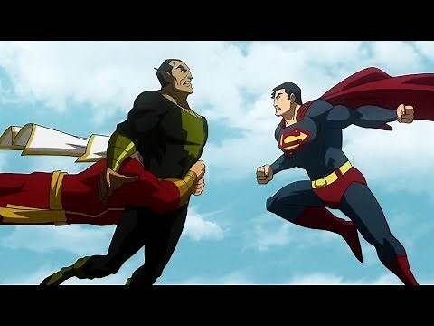 Superman and Shazam vs Black Adam - Fight Scene | Part 1