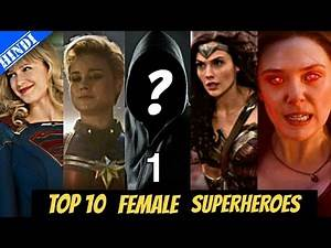 Top 10 Most Powerful Female Superheroes of All Time | Marvel | DC | Top 10 Superheroes | Hindi