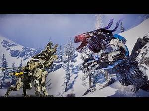 Horizon Zero Dawn Fight Club - Daemon Frostclaw VS Sawtooth Overridden ( New Machine )