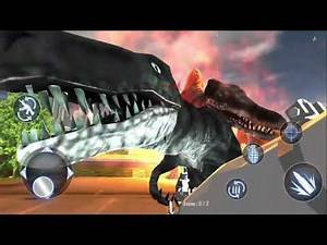 T-Rex Dinosaur City Hunter: Rocket Launcher Game - Android Gameplay #2