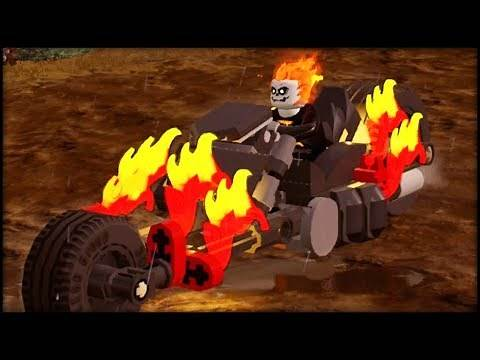 LEGO Marvel Superheroes 2 - Ghost Rider His Motorcycle Free Roam Gameplay Showcase!