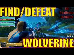 How To Find || kill Wolverine in Fortnite ||Super Easily||DEFEAT Trick|| All Wolverine Challenges +