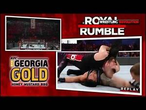Roman Reigns VS Kevin Owens Chris Jericho Locked in a shark cage Royal Rumble 2017