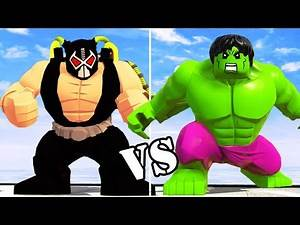 BANE VS HULK (Transformation) LEGO Marvel vs DC Character