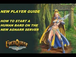 EVERQUEST GUIDE - How to start a Human Bard on the new Agnarr server (1080p)