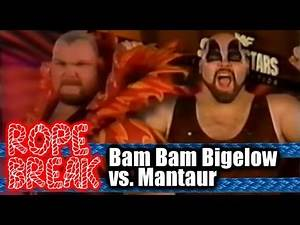 Flying Man Taint | Rope Break (2013): Bam Bam Bigelow vs. Mantaur