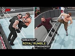 WWE 2K20 Top 10 Greatest Royal Rumble Finishers!