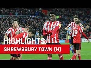 Highlights: Sunderland v Shrewsbury Town