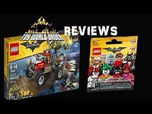 Lego Batman Movie Killer Croc Tail-Gator and Blind Bag Mini Figures REVIEW