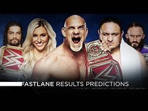 WWE Fastlane 2017 - Results Predictions