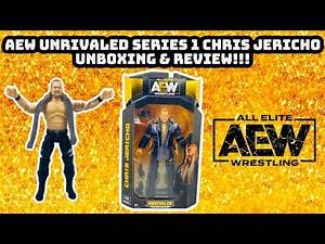 AEW UNRIVALED SERIES 1 CHRIS JERICHO WRESTLING ACTION FIGURE UNBOXING & REVIEW!!!