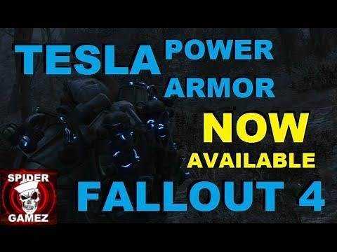 TELSA ARMOR In Fallout 4! Automatron New Legendary Tesla Power Armor Location