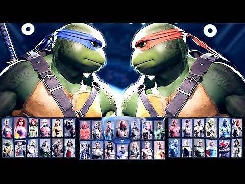 Injustice 2 All Characters Unlocked / ALL DLC CHARACTERS COMPLETE ROSTER Ninja Turtles