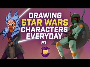 Drawing a Star Wars Character Every Day for a Month, I-VIII