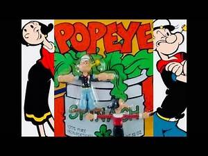 1993 Popeye Bendy Unboxing Daddy Daughter Retro Review