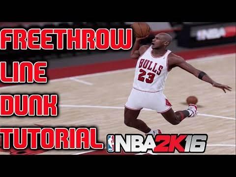 NBA 2k16 Dunking Tutorial - How To Do The Jordan Free Throw Line Dunk!