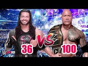 "Roman Reigns ""36 Rated"" vs The Rock ""100 Rated"" 