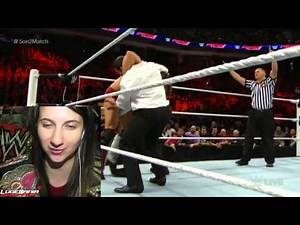 WWE Raw 2/9/15 5 on 2 Handicap Main Event