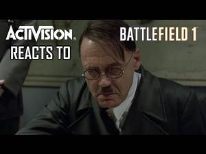 Activision Reacts to Battlefield 1 (A Hitler Reacts Parody)