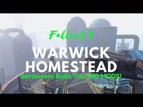 Fallout 4 | Warwick Homestead Settlement Build/Tour!!! | NO MODS!