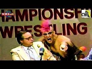 Rick Rude vs Cocoa Samoa (Lady Maxine Slaps Percy Pringle!) (September 18th, 1985) @The Sportatorium