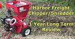 Harbor Freight Wood Chipper & Shredder 1 Year Long Term Review by @Gettin' Junk Done