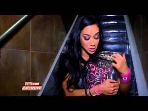 AJ Lee reacts to winning the Divas Championship: WWE.Com Exclusive. (06/16/2013)