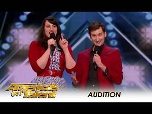 Married Couple Comedy Duo Get BOOED Off stage! | America's Got Talent 2018