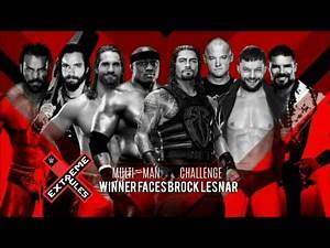 WWE Extreme Rules 2018: Multi-Man Challenge Edited Match Card