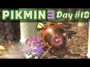 Pikmin 3 WiiU - Day 18: Attack of the Orange Bulborbs in Twilight River!