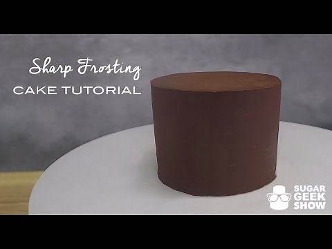 How to get sharp ganache edges on your cakes tutorial