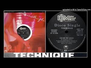 Technique - Can We Try Again (12'' Special Disco Mix) 1979 Disco Hi-NRG Electro Pop 70s 80s TEKNIQUE