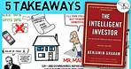 THE INTELLIGENT INVESTOR SUMMARY (BY BENJAMIN GRAHAM)