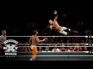 Ricochet makes a stunning leap over the top rope to topple Velveteen Dream: NXT TakeOver: Chicago II