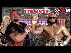 WWE 2K19 Old School GAMEPLAY: Machoman VS Bam Bam Bigelow at Wrestlemania for the WWF World Title