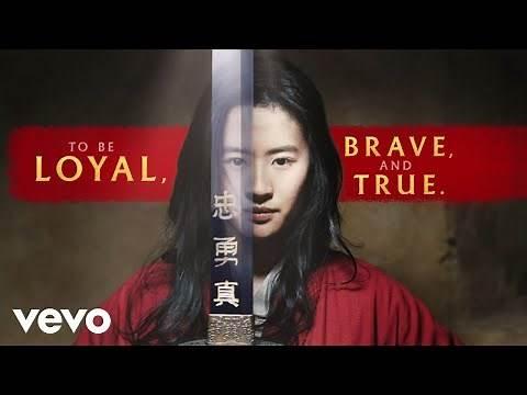 "Christina Aguilera - Loyal Brave True (From ""Mulan""/Official Lyric Video)"