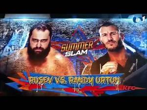 WWE SummerSlam 2017: Rusev vs. Randy Orton - Official Match Card