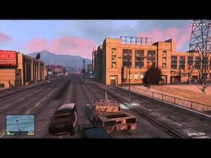 GTA V - Tank Destroying the Highway! Maximum Wanted Gameplay HD