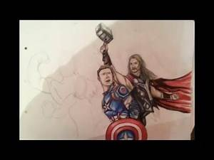 HOW TO DRAW THE AVENGERS Part 2 (Thor)