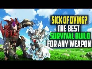 ✔️ NEVER DIE! THE BEST Survival Builds! Works For ALL Melee Weapons! Monster Hunter World Armor Sets