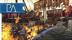 MEDIEVAL NAVAL BATTLE - Medieval Kingdoms Total War 1212AD Gameplay