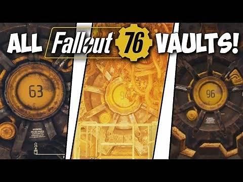 Fallout 76 - All Vault Locations (Vault 63, Vault 94, Vault 96)