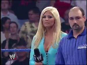 Torrie Wilson As Special Guest Ring Announcer