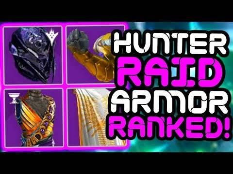 Destiny - Ranking ALL 11 HUNTER Raid Armor Sets!!