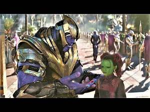 Avengers Infinity War - Thanos Vs Gamora Fight Scene (3/10) [HD Bluray]